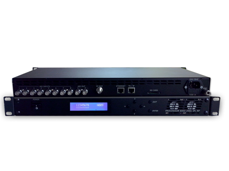 8ASI DVB-S/S2+   Processor, Ethernet 1000