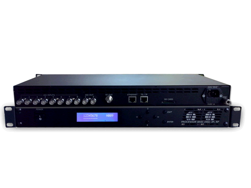 8ASI DVB-T  2RF Processor Ethernet 1000